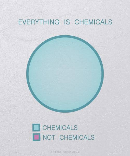 Everything Is Chemicals Art Print