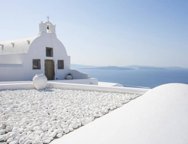 Santorini Photograph - Everything Is White by Brad Scott