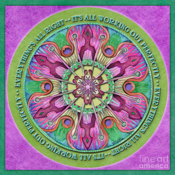 Painting - Everything's All Right Mandala Prayer by Jo Thomas Blaine