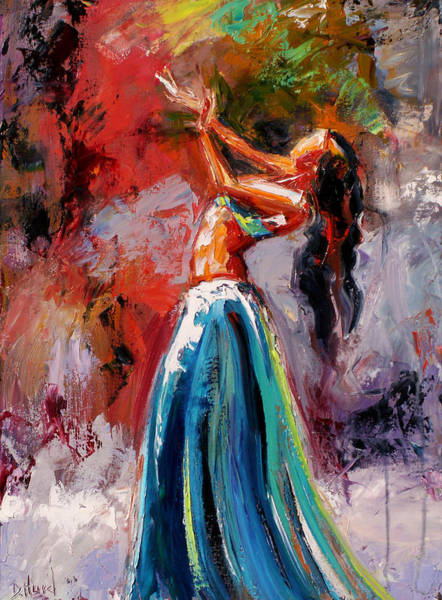 Belly Dancing Painting - Eve's Dance by Debra Hurd