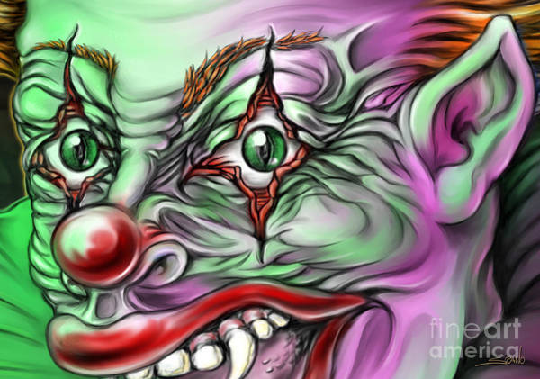 Painting - Evil Clown Eyes by Michael Spano
