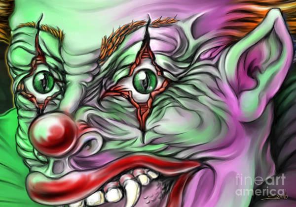 Evil Clown Eyes Art Print