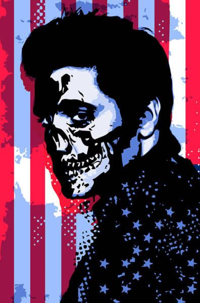 Evil Elvis Art Print by Tom Deacon