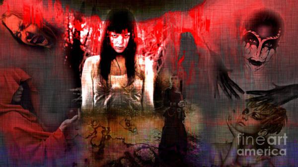 Digital Art - Evil One by John Rizzuto