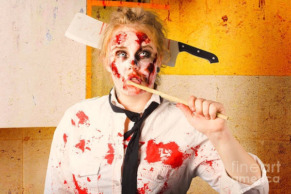 Horrible Photograph - Evil Zombie Chef Thinking Up Unhealthy Food Idea by Jorgo Photography - Wall Art Gallery