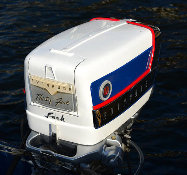 Outboard Photograph - Evinrude Outboard Motor 1958 by David Lee Thompson