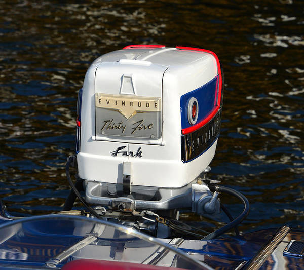 Outboard Photograph - 1958 Evinrude 50hp Outboard by David Lee Thompson
