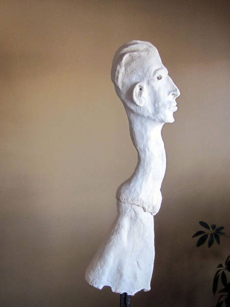 Fired Clay Wall Art - Sculpture - Evolution II by Andre Ferron