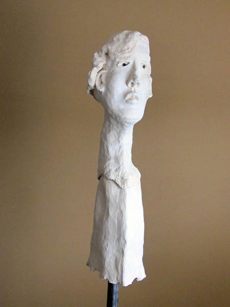 Fired Clay Wall Art - Sculpture - Evolution IIi  by Andre Ferron