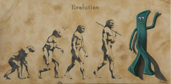 Olive Oil Painting - Evolution by Judy Sherman