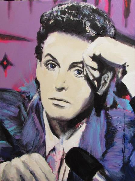 Drawing - Evolution Of Paul Mccartney by Eric Dee