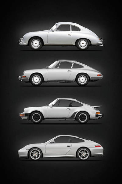 Transport Photograph - Evolution Of The 911 by Mark Rogan