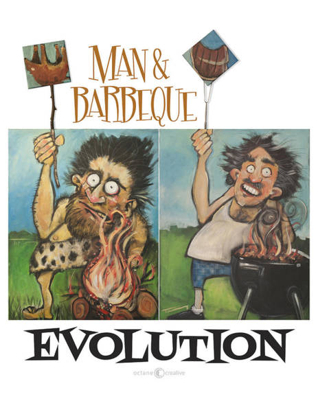 Painting - Evolution Poster by Tim Nyberg