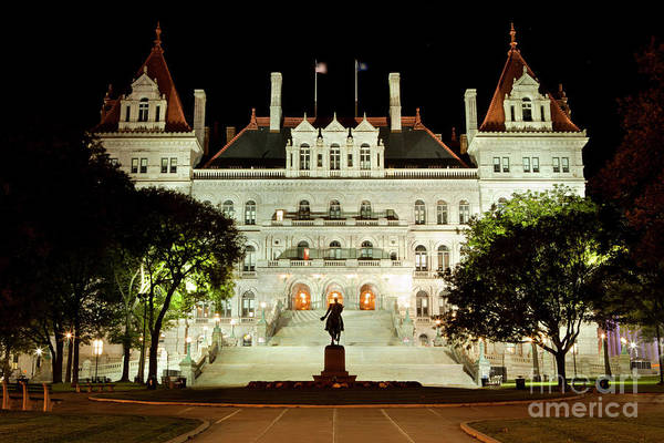 Wall Art - Photograph - ew York State Capitol in Albany by Anthony Totah