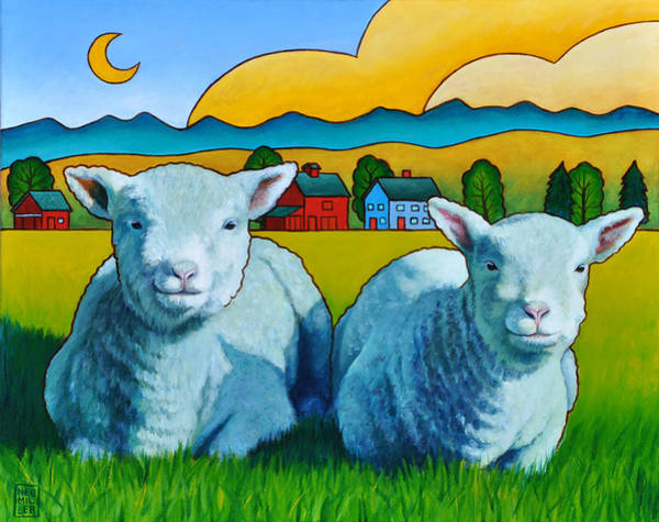 Wall Art - Painting - Ewe Two by Stacey Neumiller