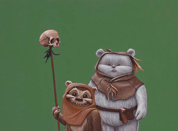 The Star Wars Wall Art - Painting - Ewoks by Jasper Oostland