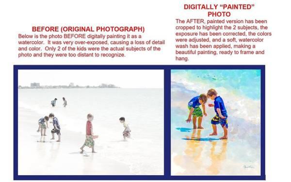 Photograph - Example 1 - Custom Photo-painting by Susan Molnar
