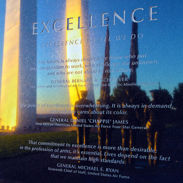 Values Wall Art - Photograph - Excellence by Mitch Cat