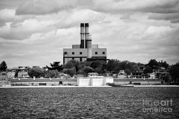 Wall Art - Photograph - excelon oil power plant old south Boston edison power plant USA by Joe Fox