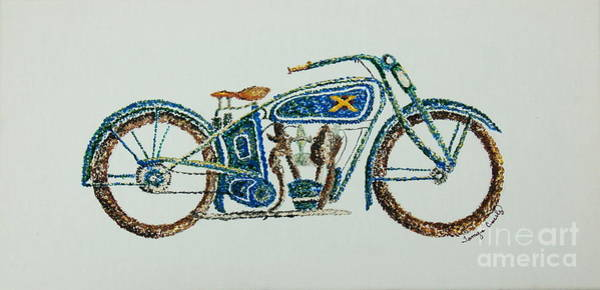 Painting - Excelsior Motorcycle by Tamyra Crossley