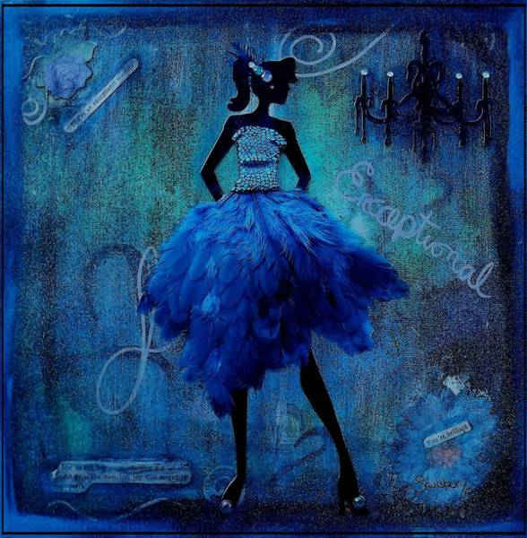 Wall Art - Mixed Media - Exceptional Lady by Heather Saulsbury