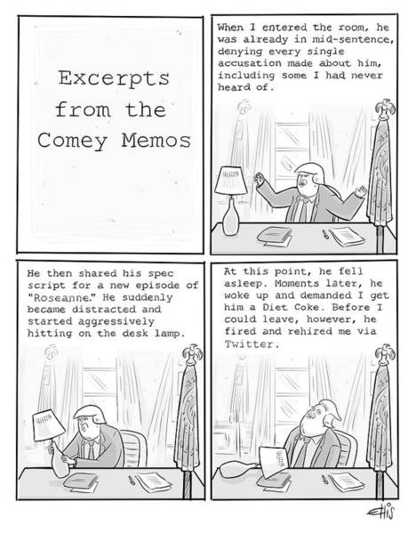 Excerpts From The Comey Memos Art Print