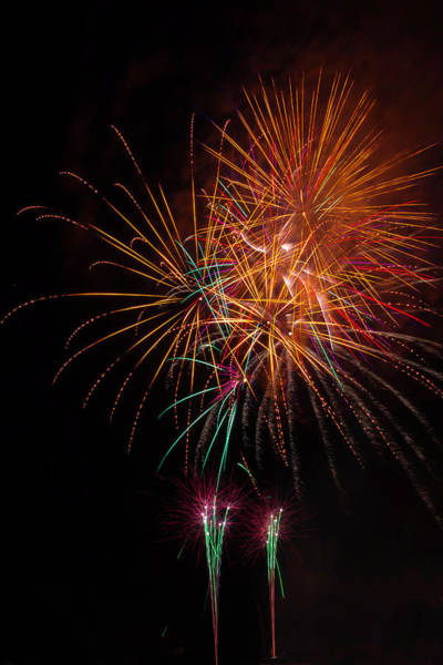 Dazzle Wall Art - Photograph - Exciting Fireworks by Garry Gay
