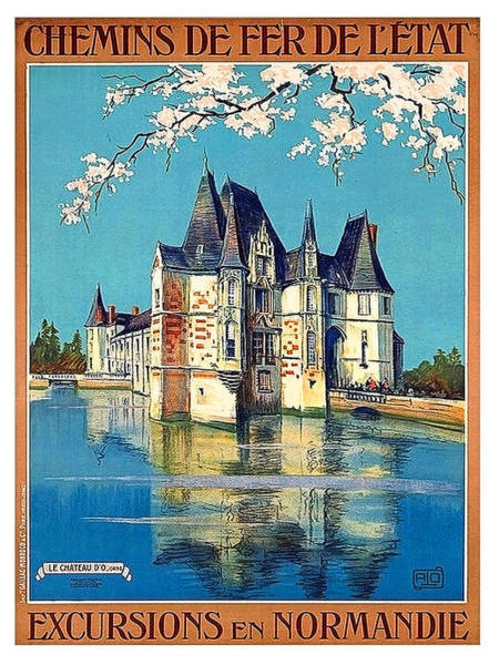 Normandy Painting - Excursions To Normandy By State Railway, Travel Poster by Long Shot