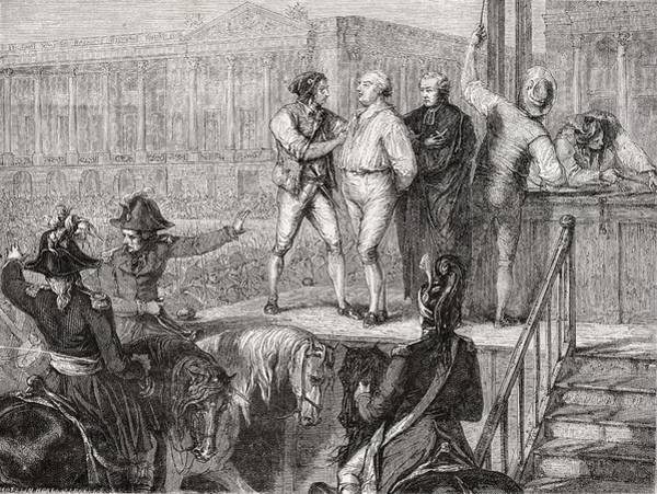 Wall Art - Drawing - Execution Of Louis Xvi, 21 January by Vintage Design Pics