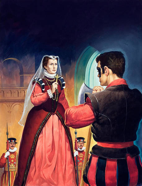 Condemned Wall Art - Painting - Execution Of Mary Queen Of Scots by English School
