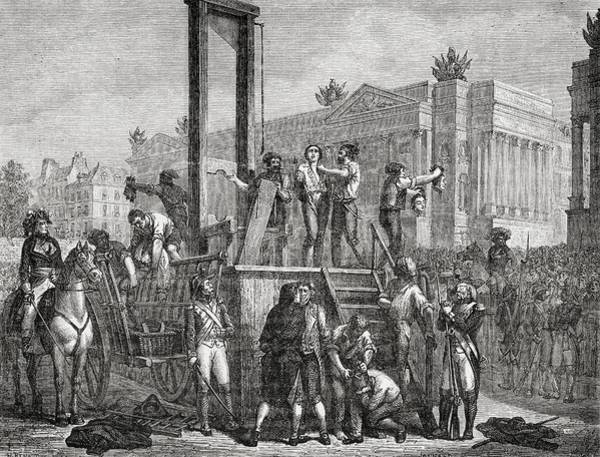 Wall Art - Drawing - Execution Of Robespierre, Saint Just by Vintage Design Pics