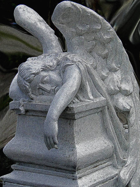 Wall Art - Photograph - Exhausted Guardian Angel by Al Bourassa