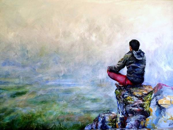 Ambiguous Painting - Existentialist by Rebecca Zai