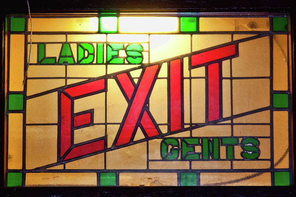 Photograph - Exit - Ladies/gents Art Deco Sign by Tatiana Travelways