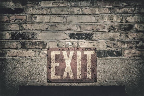Bricks Photograph - Exit by Scott Norris