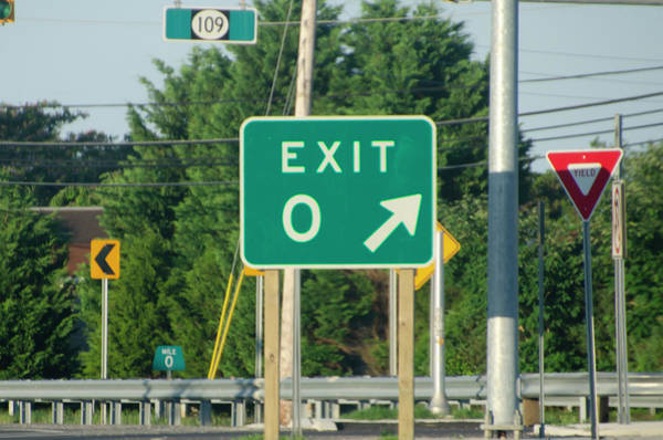Wall Art - Photograph - Exit Zero - Cape May by Bill Cannon