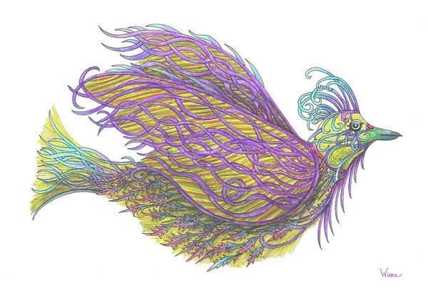 Painting - Exotic Bird Iv by Lise Winne