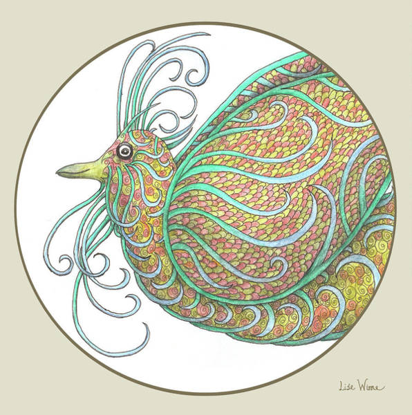 Mixed Media - Exotic Bird Series Gallery Button by Lise Winne