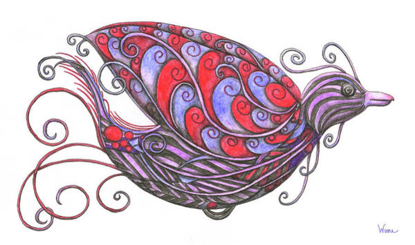 Painting - Exotic Bird V by Lise Winne
