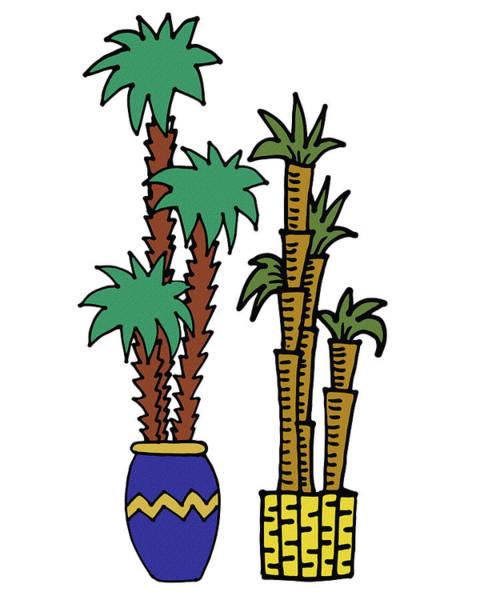 Bamboo Digital Art - Exotic Couple Plants Illustration  by Irina Sztukowski