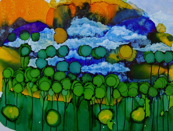 Painting - Exotic Landscape # 45 by Sima Amid Wewetzer