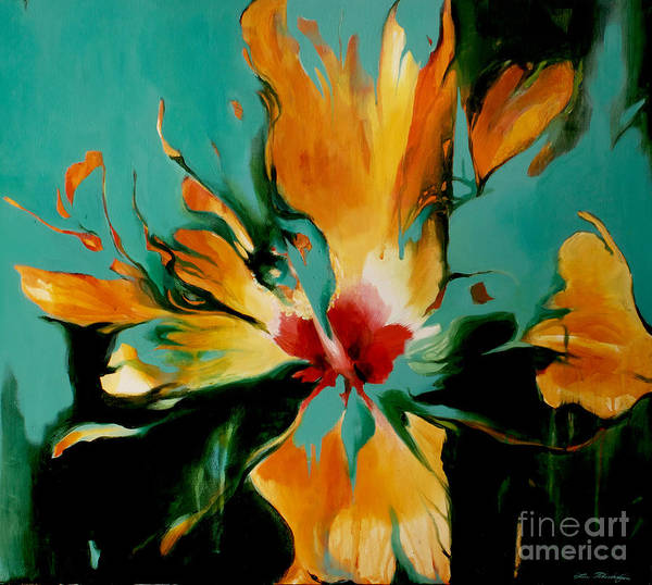 Hibiscus Flower Painting - Exotic by Lin Petershagen