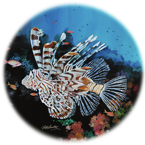 Wall Art - Painting - Exotic Lionfish II by Bill Dunkley