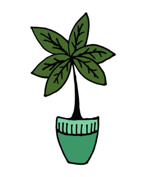 Digital Art - Exotic Palm Plant Illustration by Irina Sztukowski