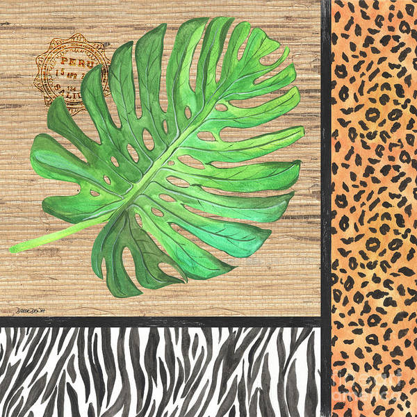 Zebra Painting - Exotic Palms 3 by Debbie DeWitt