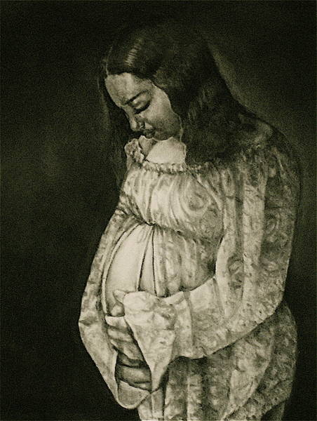 Pregnancy Drawing - Expecting by Curtis James