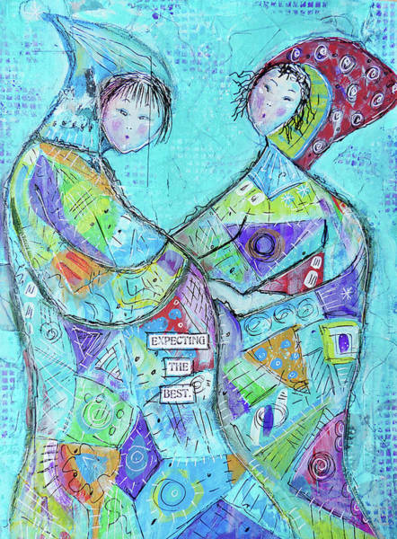 Pregnant Wall Art - Mixed Media - Expecting The Best by Lynn Colwell