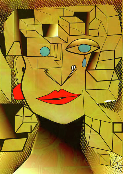 Digital Art - Experience Cubism Digital by Tatiana Hallack