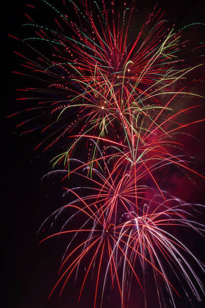 Dazzle Wall Art - Photograph - Exploding Festive Fireworks by Garry Gay