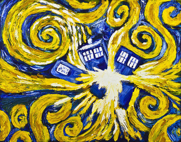 Bbc Painting - Exploding Tardis by Jeph WHO